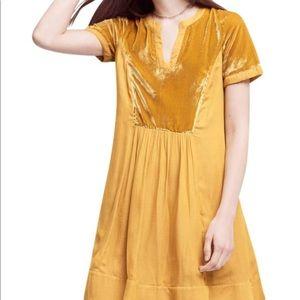 Anthropologie Maeve velvet dress size petite M